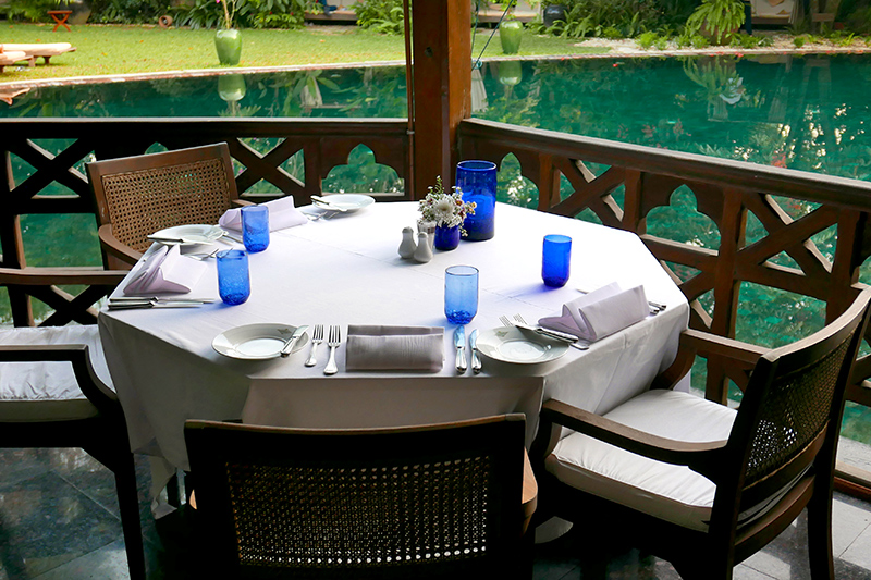 <i>Mandalay Restaurant</i> terrace at Belmond Governor's Residence - Photo by Hideaway Report editor