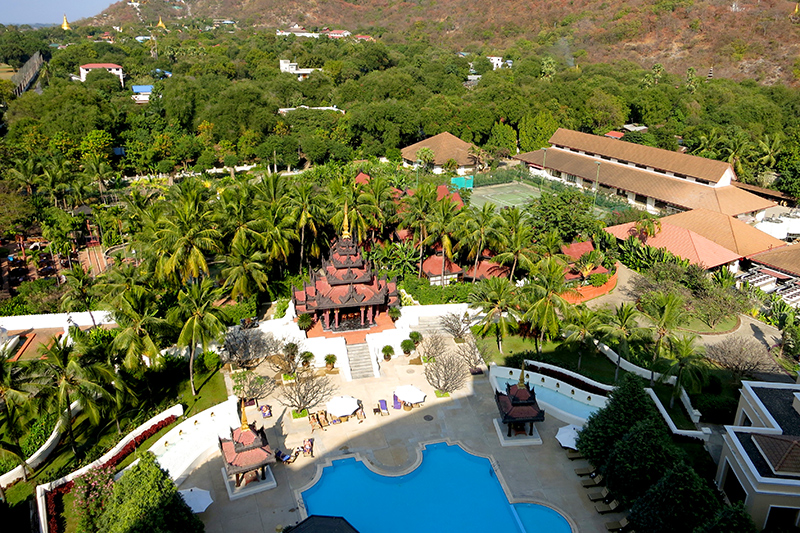 View from our Executive Suite at Mandalay Hill Resort Hotel - Photo by Hideaway Report editor