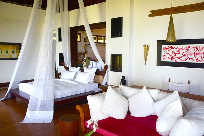 Bedroom in our Villa at Ngapali Bay Villas & Spa - Photo by Hideaway Report editor