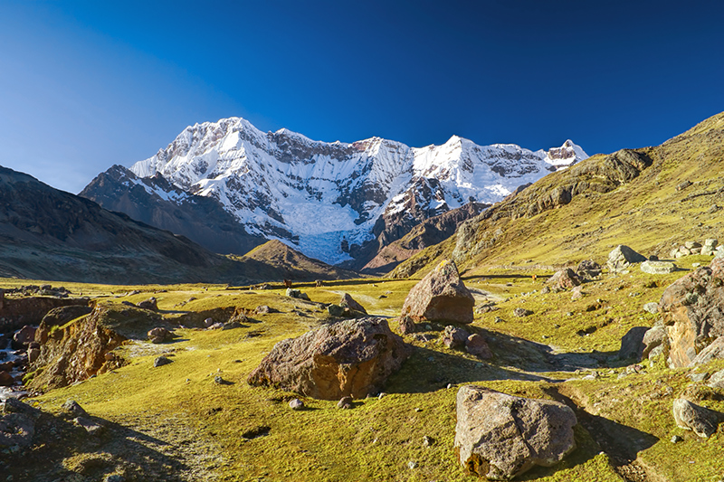 "Andean Lodges' ""Ausangate Circuit"" is a five-day lodge-to-lodge hike around the mountain Ausangate in the Andes"