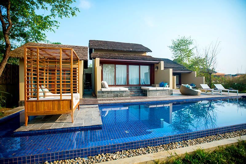 Villa with plunge pool at Meghauli Serai