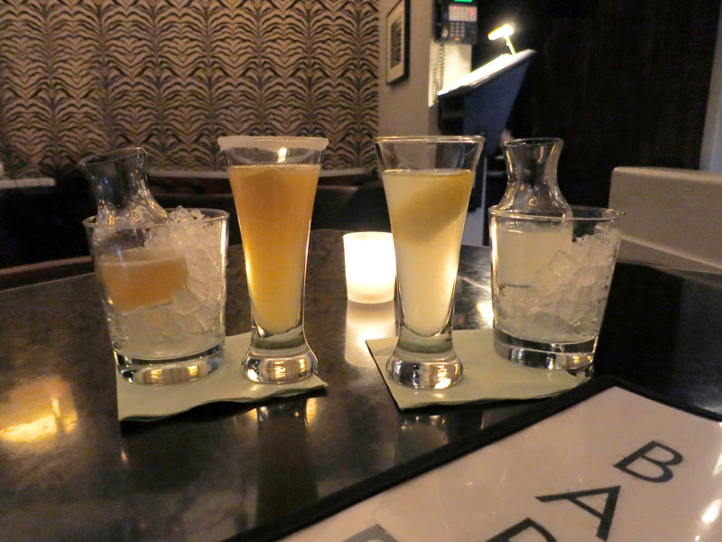 Sidecar and Aviation cocktails at <em>Bar Centrale</em> - Photo by Hideaway Report editor