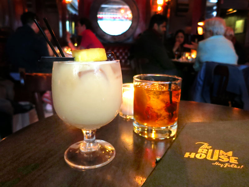 """The Escape"" and Rum Old Fashioned at <em>The Rum House</em> - Photo by Hideaway Report editor"