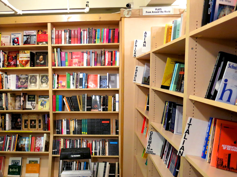 Plays, scores and educational books at The Drama Book Shop - Photo by Hideaway Report editor