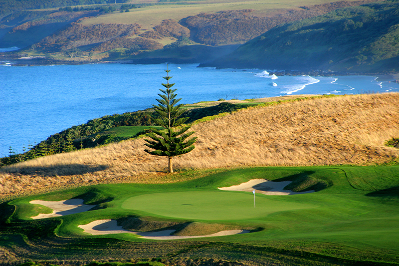 Hole 17 at Kauri Cliffs