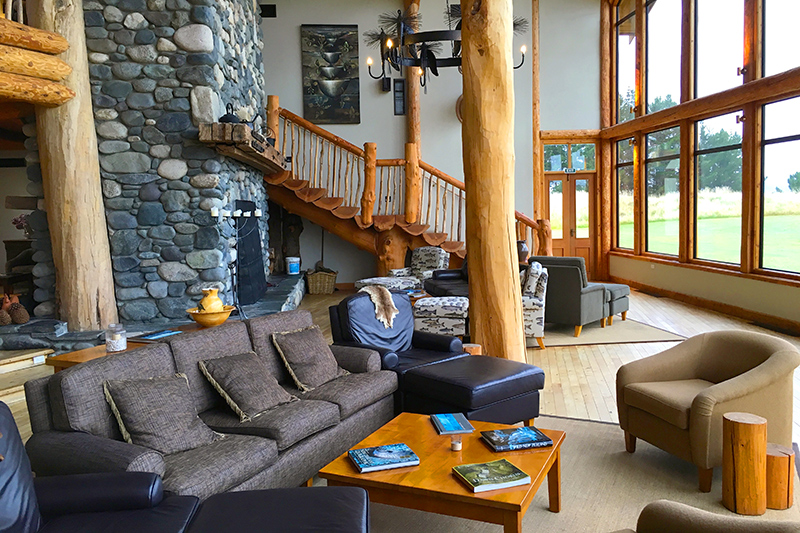 Main living area at Fiordland Lodge