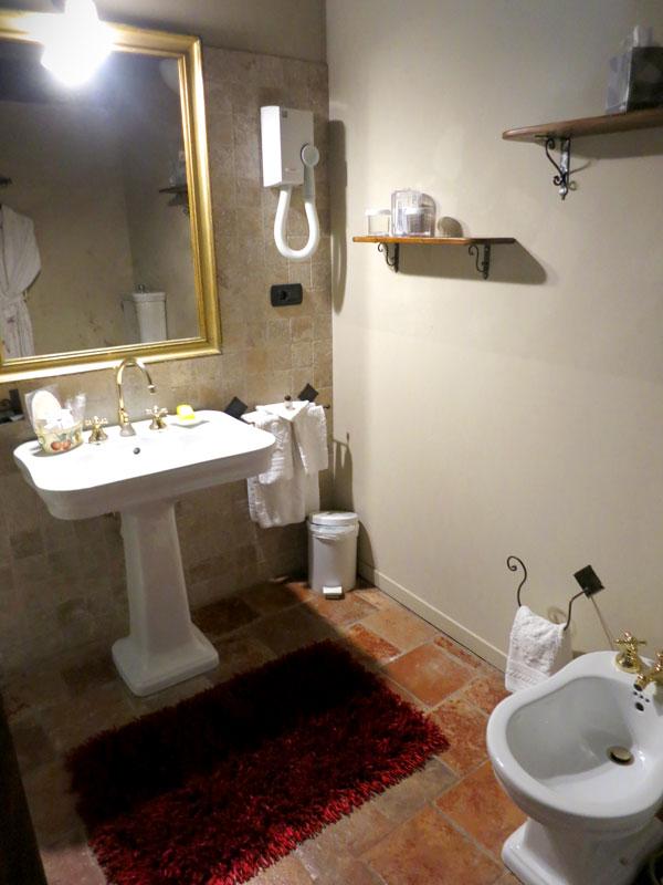Our bath at Hotel Castello di Sinio