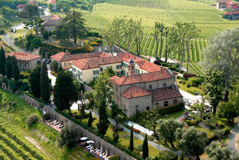 Aerial view of Relais San Maurizio