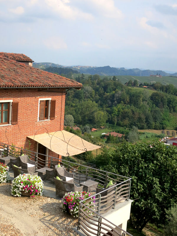 View from the balcony at Villa Tiboldi