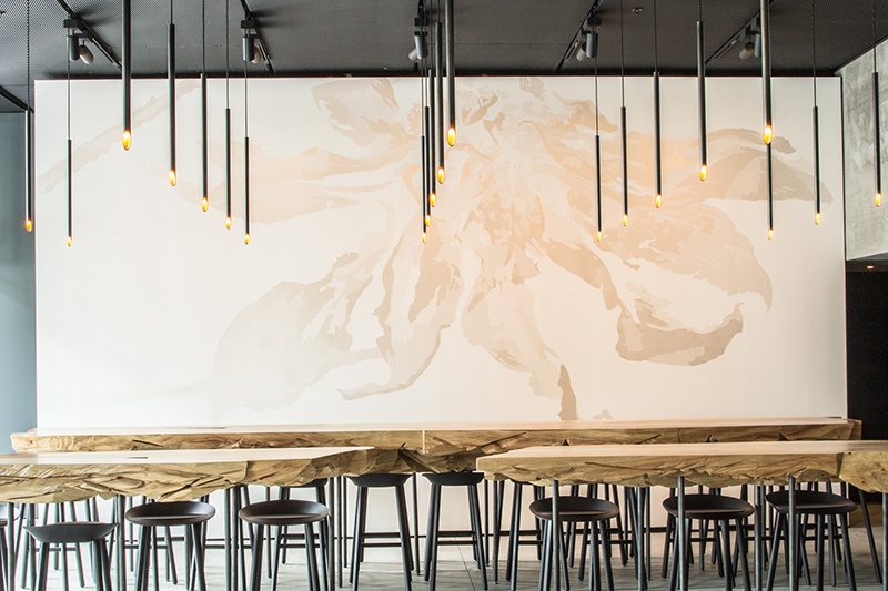 <em>In Situ</em> restaurant at SFMOMA - Rosana Castrillo Díaz, Break This Heart, 2016. Commissioned by SFMOMA; courtesy of the artist and Anthony Meier Fine Arts, San Francisco. Photo by Eric Wolfinger