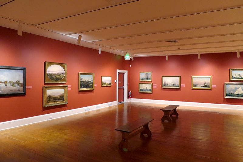 <em>Painting a Nation</em> exhibit at the Shelburne Museum - Photo by Hideaway Report editor
