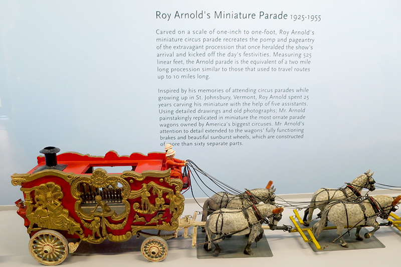Roy Arnold's <em>Circus Parade</em> at the Shelburne Museum - Photo by Hideaway Report editor