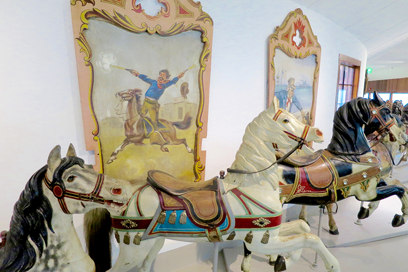 Hand-painted carousel figures at the Shelburne Museum - Photo by Hideaway Report editor