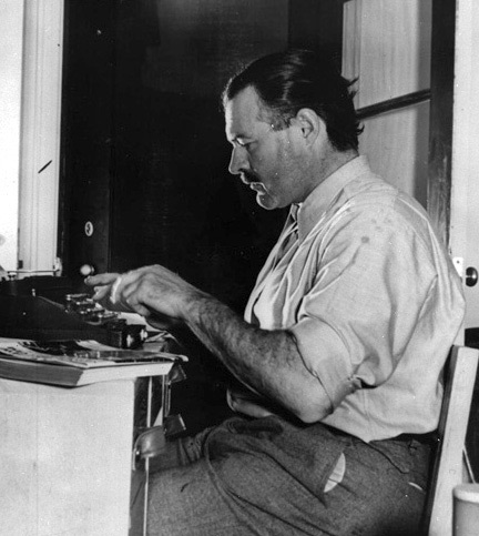 Ernest Hemingway in Room 206 at the original Sun Valley Lodge - Courtesy of Sun Valley Resort