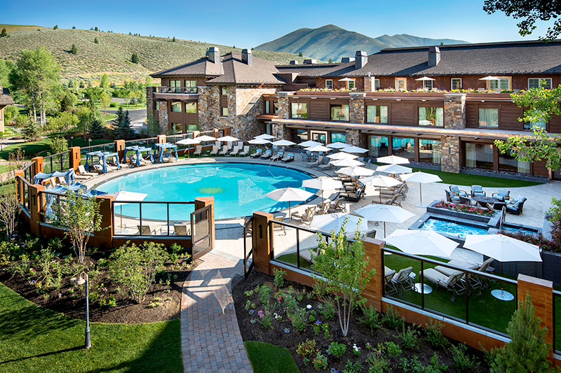 New spa and expanded pool at Sun Valley Lodge - Courtesy of Sun Valley Resort © Kevin Syms