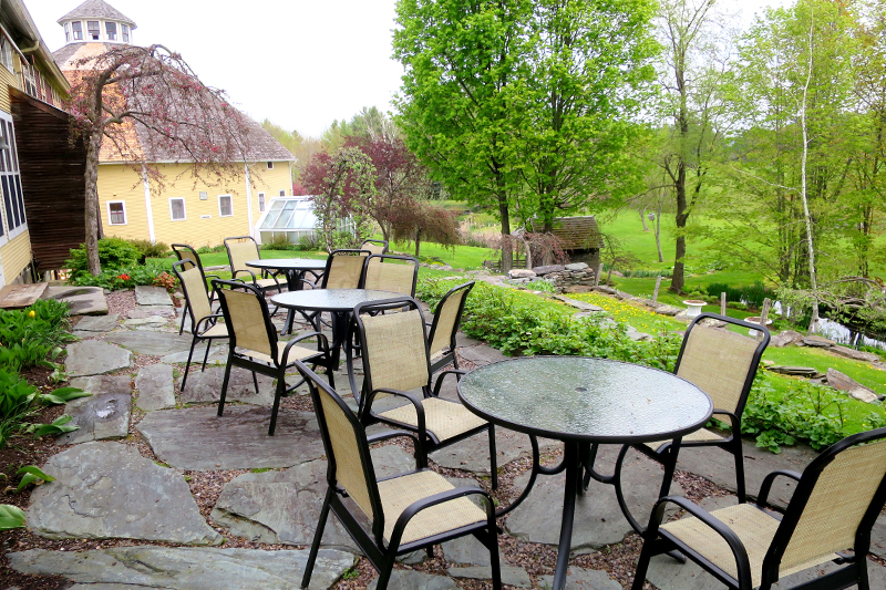 Patio at The Inn at Round Barn Farm - Photo by Hideaway Report editor