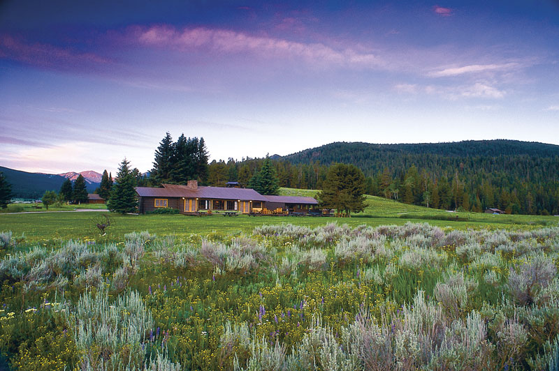The Main Lodge at Firehole Ranch