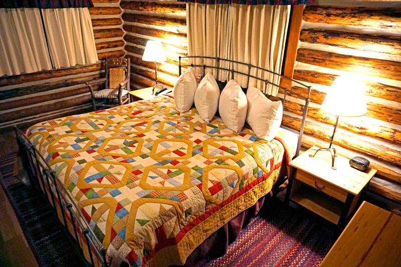 Our bedroom at Jenny Lake Lodge
