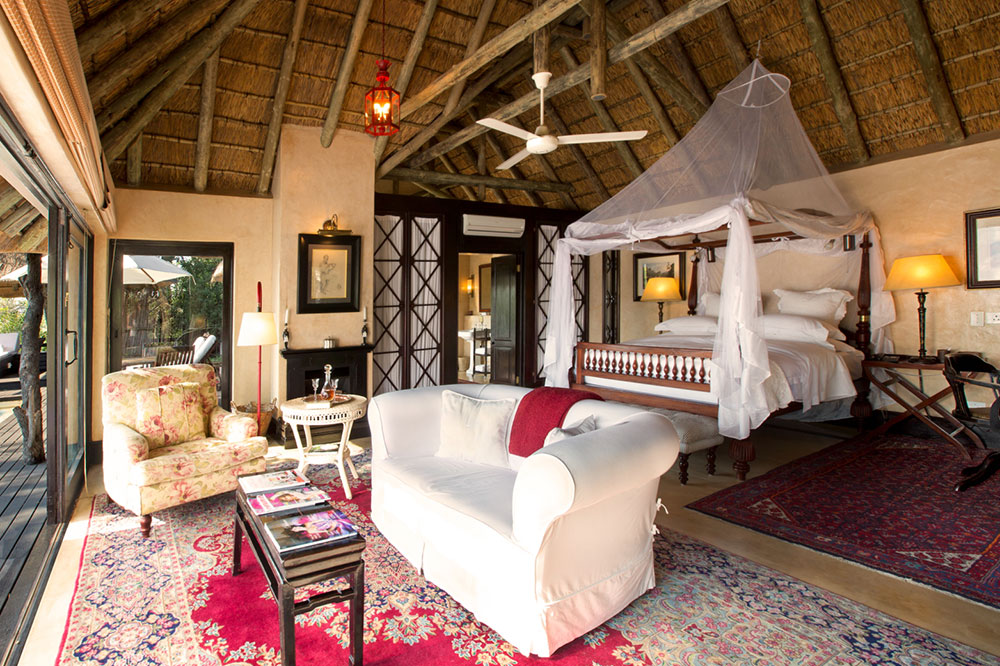 A luxury suite at Royal Malewane