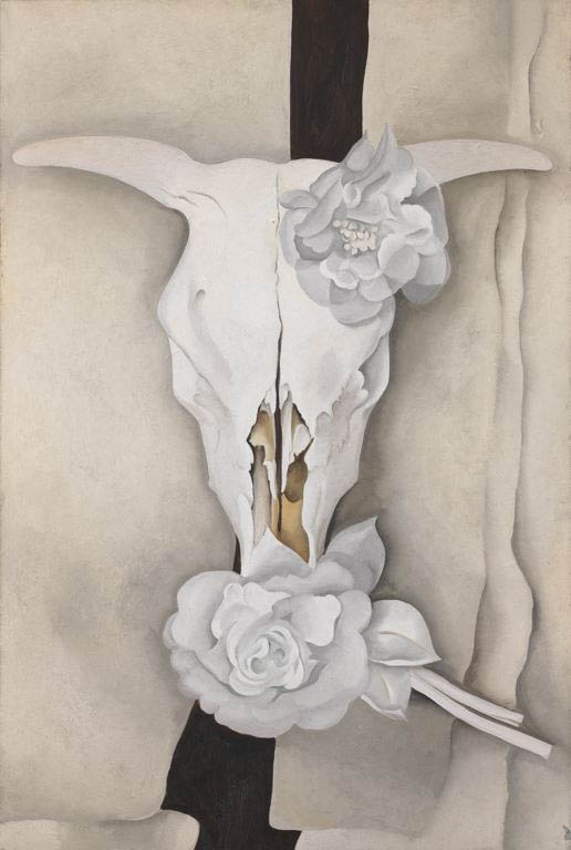 Cow's Skull with Calico Roses by Georgia O'Keefe