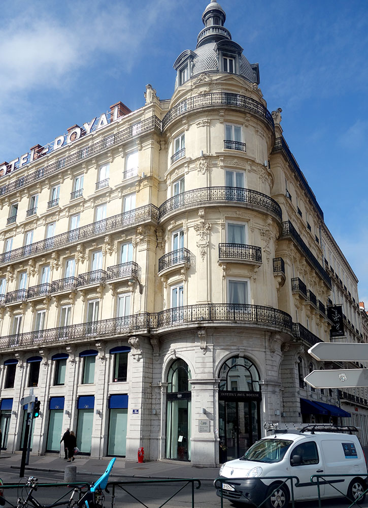 The exterior of Le Royal in Lyon, France - Photo by Hideaway Report editor