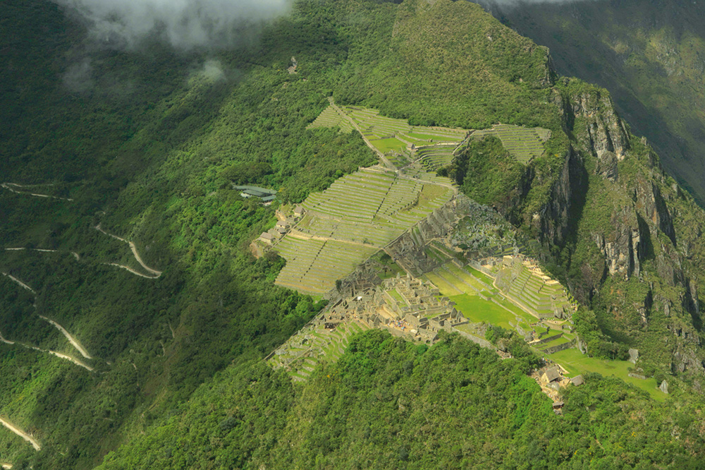 An aerial view of Machu Picchu, Peru - Adrian Houston Limited