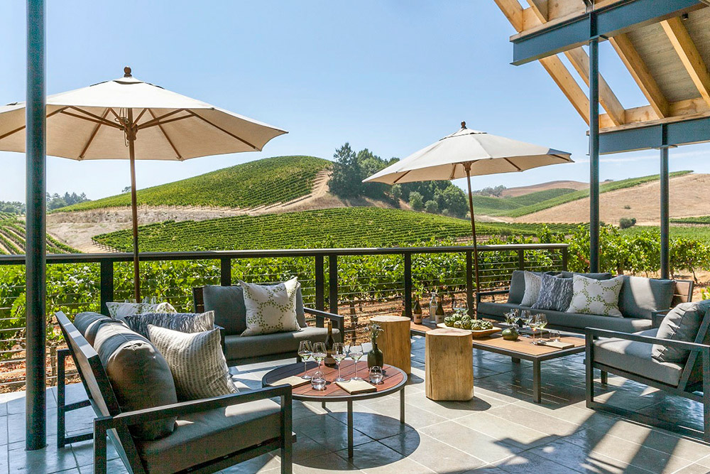 View from the terrace at MacRostie Winery Estate House