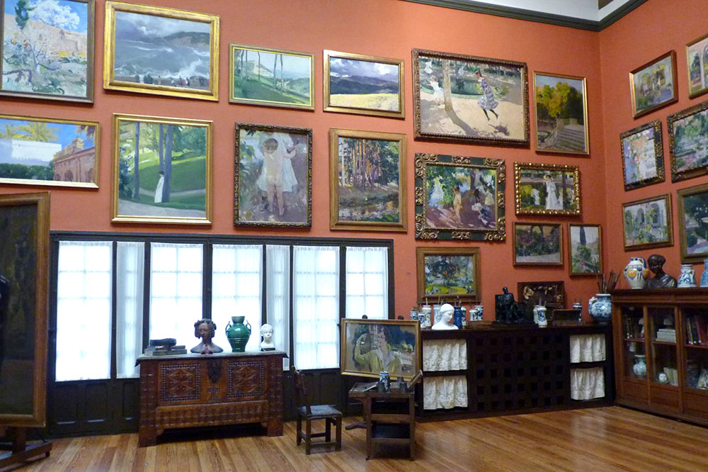 Paintings by Joaquín Sorolla, in Museo Sorolla, dedicated to preserving his works and his family home