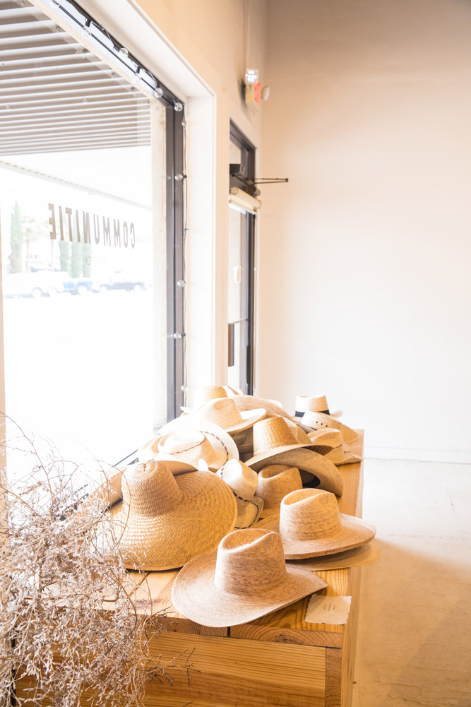 Straw hats at Communitie - Photo by Hideaway Report editor