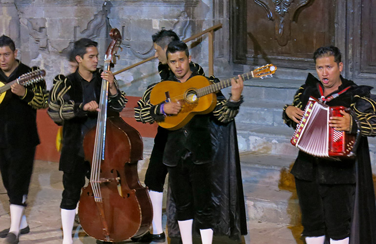 Mariachi band on the streets of Guanajuato, Mexico