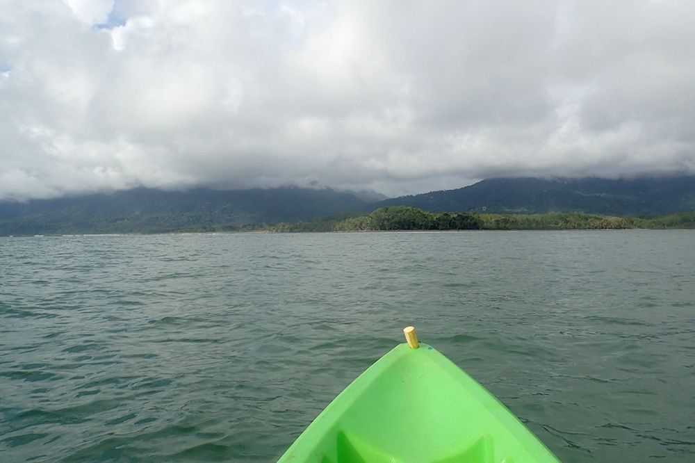 The coast in the distance as seen during our kayaking excursion in Marino Ballena National Park
