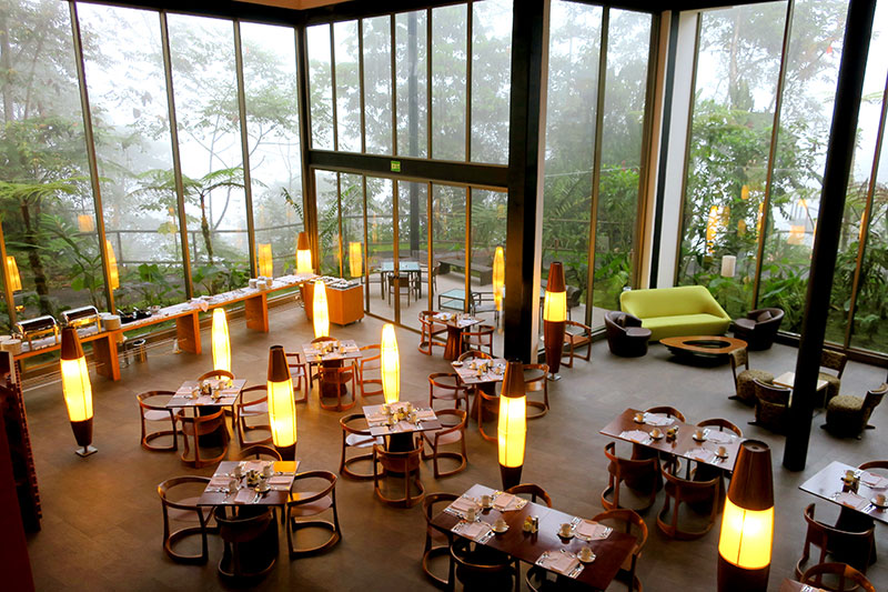 Dining room at Mashpi Lodge - Photo by Hideaway Report editor