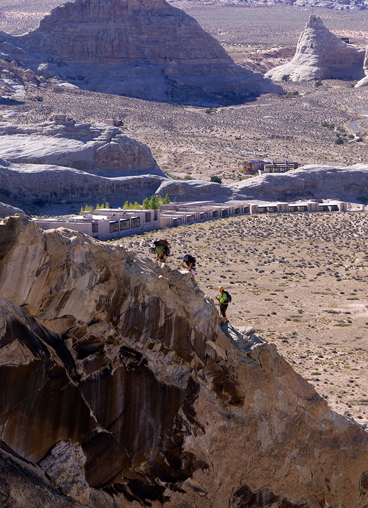 One of Amangiri's four <em>via ferrata</em> routes for rock climbing in Canyon Point, Utah - Ken Hayden