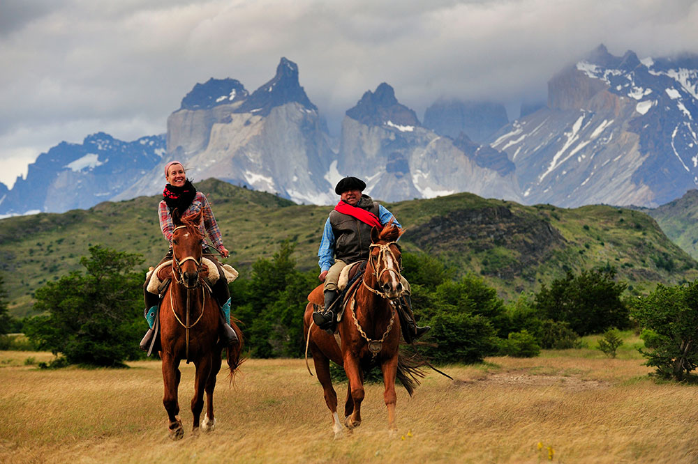 Horseback riding at explora Patagonia in Patagonia, Chile - Photo by Hideaway Report editor