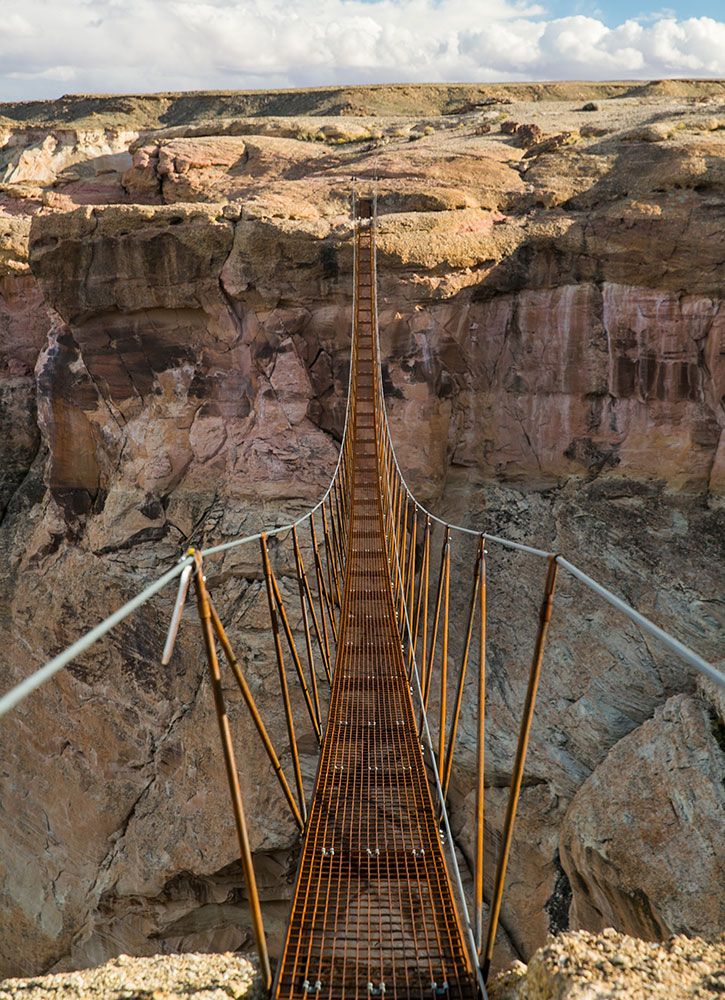 Suspension bridge along one of Amangiri's hiking trails - Courtesy of Aman in Canyon Point, Utah - Courtesy of Aman