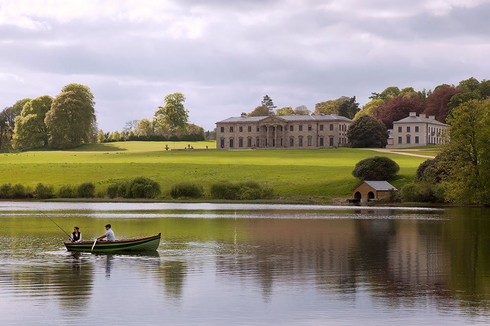 Boating across Ballyfin Demesne's 28-acre lake
