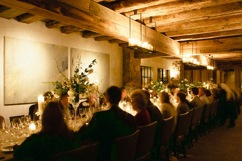 Dinner by candlelight at <em>The Barn at Blackberry Farm</em>
