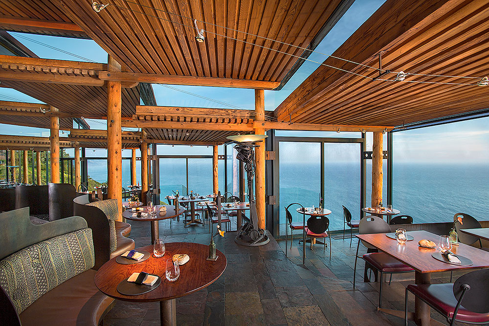 Dinner with a view at Post Ranch Inn's <em>Sierra Mar</em> restaurant