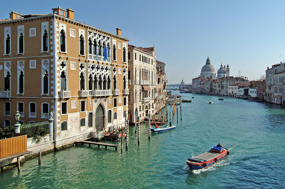 A view of the Grand Canal from The Gritti Palace