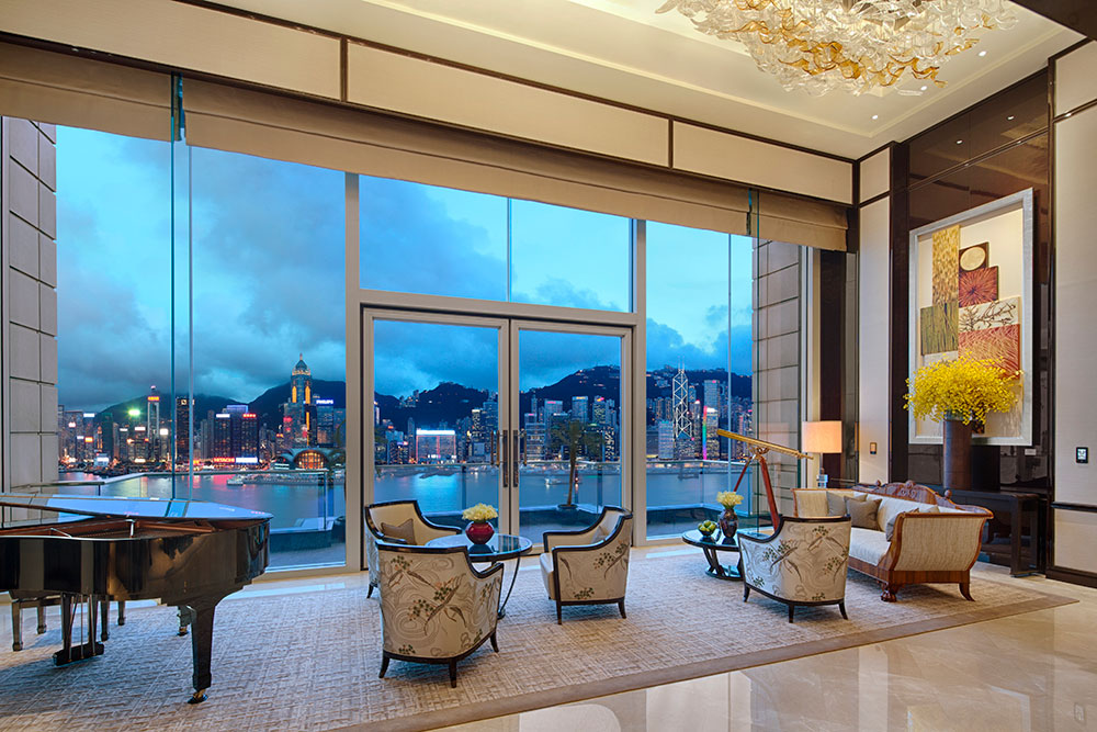 The Peninsula Suite living room at The Peninsula Hong Kong