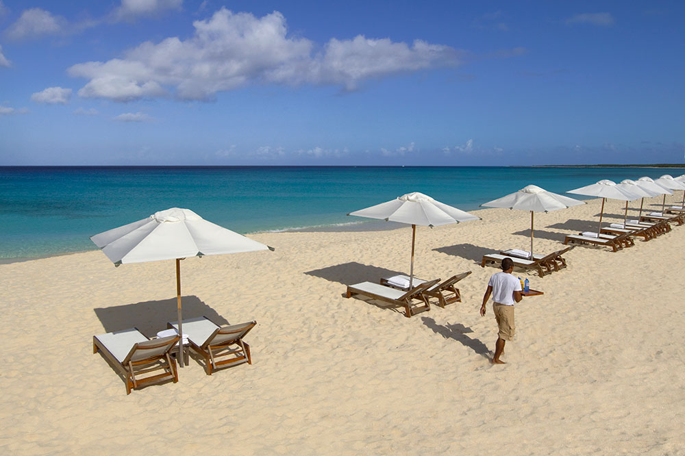 Amanyara's white-sand beach