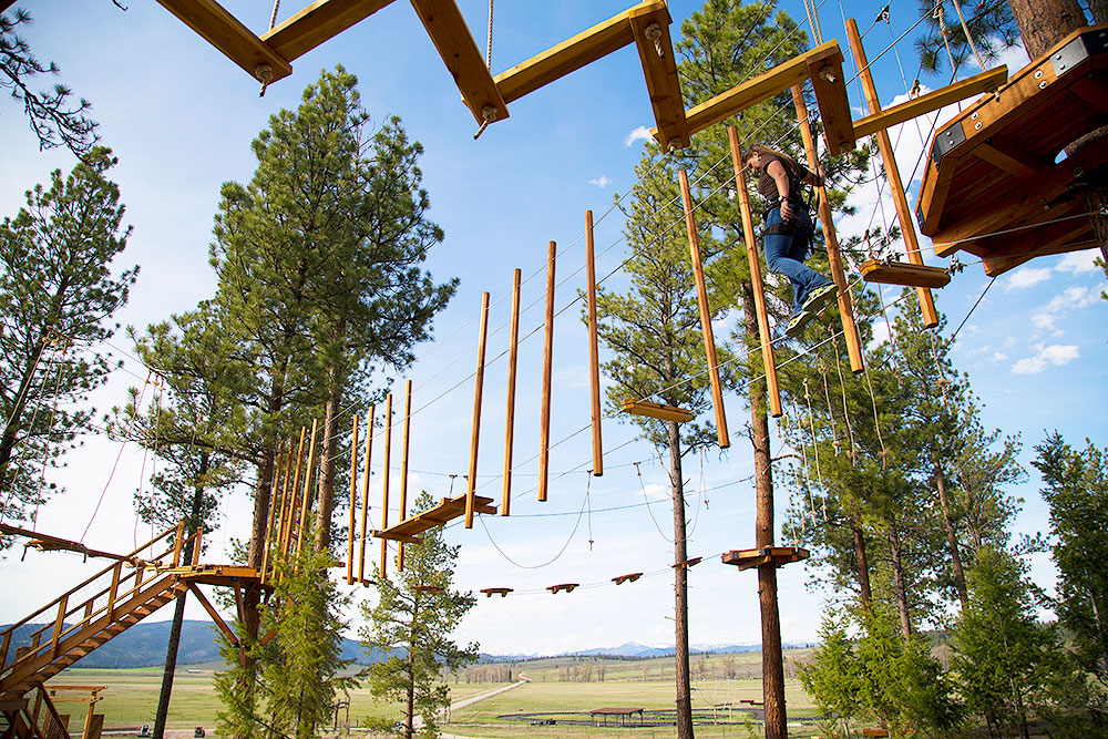 The Sky Line Aerial Adventure Park at The Resort at Paws up