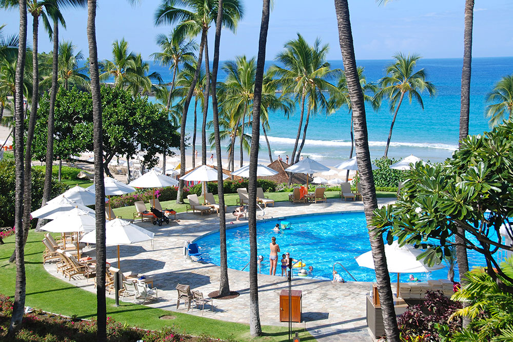 The pool at Mauna Kea Beach Hotel