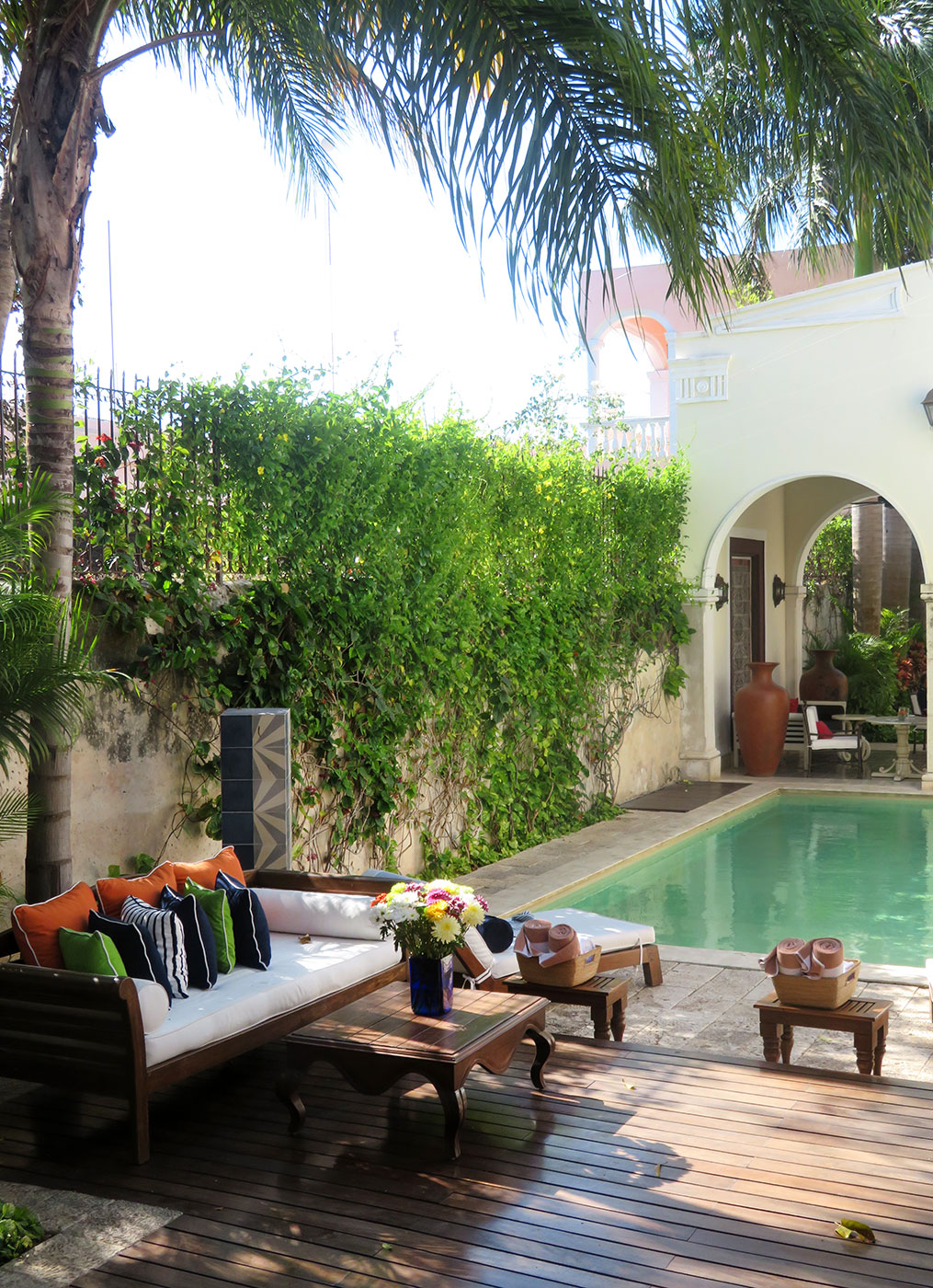 The pool at Casa Lecanda in Mérida, Mexico - Photo by Hideaway Report editor