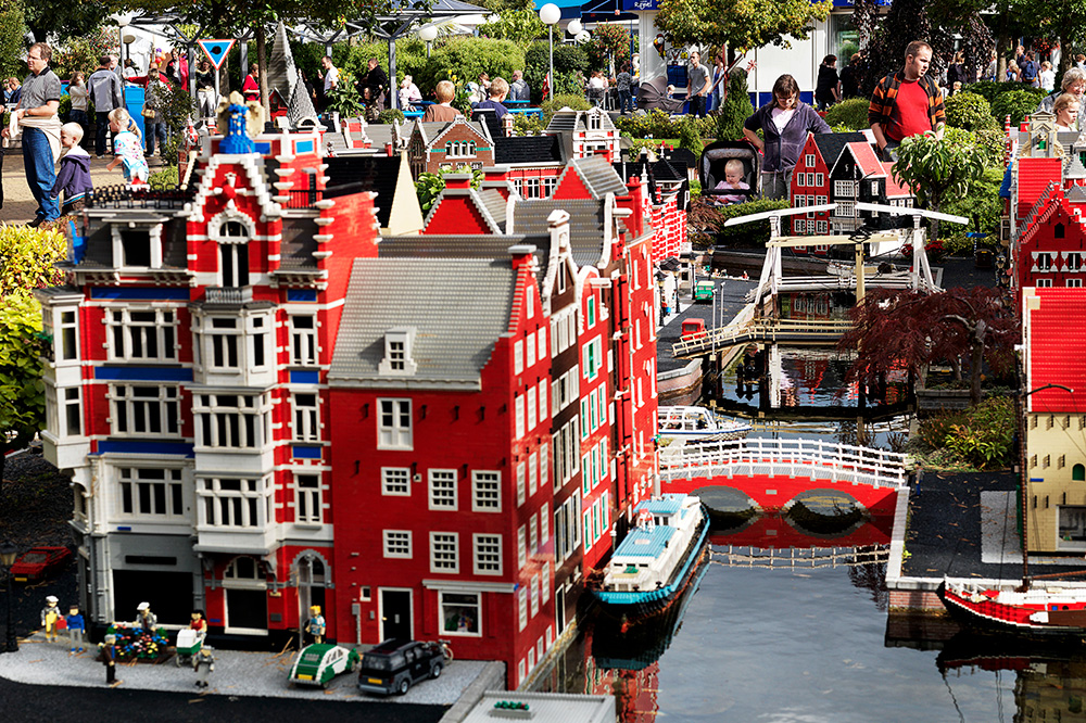 A Miniland sculpture made of Legos at Legoland Billund in Billund, Denmark - Legoland®