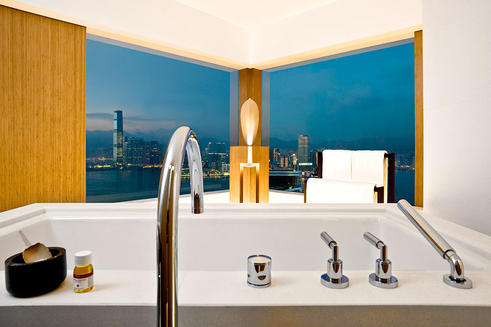 View from the bath at The Upper House
