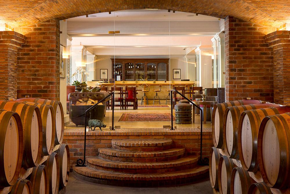 Wine cellar at La Motte Wine Estate