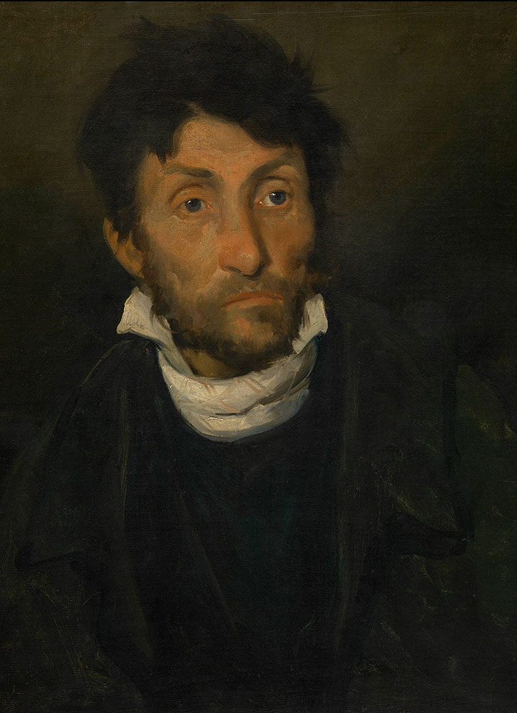 """Portrait of a Kleptomaniac,"" by Théodore Géricault, from the Museum of Fine Arts Ghent"
