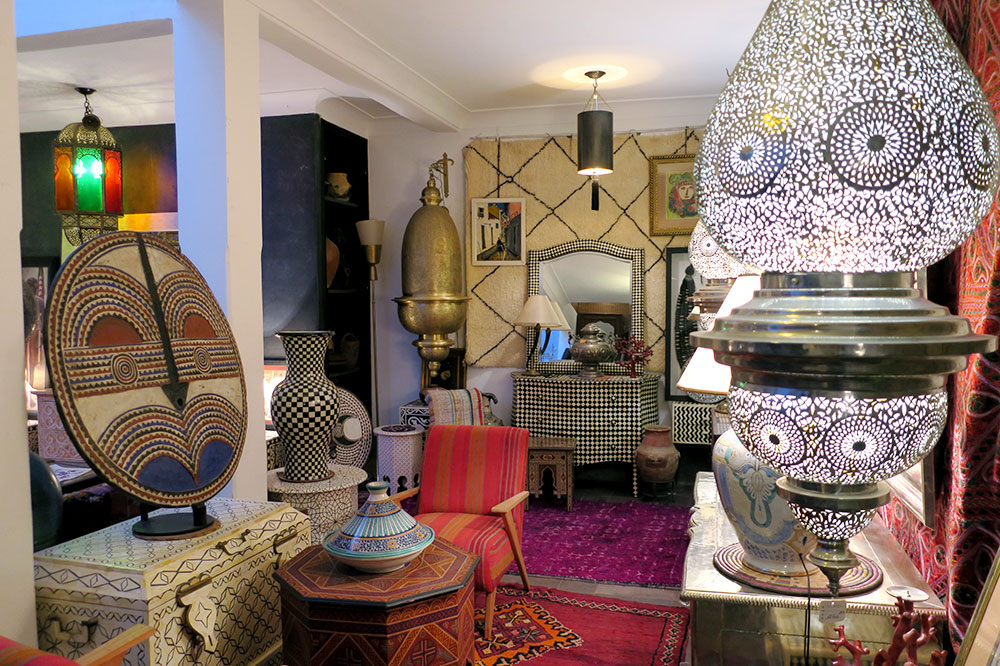 Various items for sale at Mustapha Blaoui
