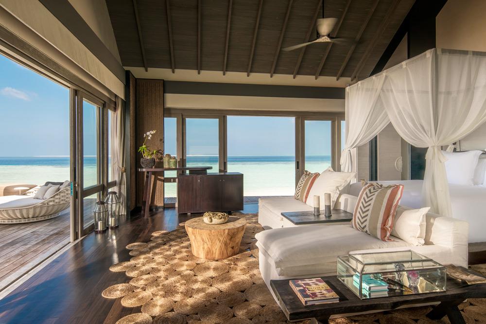 Master suite of a three-bedroom villa